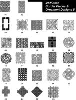 DXF Border Pieces & Ornament Designs 5