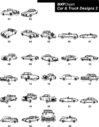 DXF Car & Truck Designs 2
