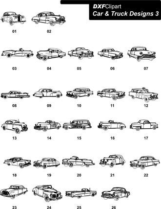 DXF Car & Truck Designs 3