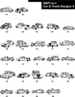 DXF Car & Truck Designs 4