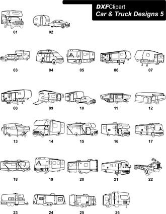 DXF Car & Truck Designs 5