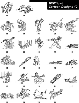 DXF Cartoon Designs-12