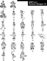 DXF Cartoon Designs-14