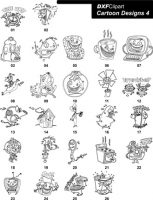 DXF Cartoon Designs 4