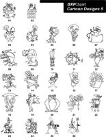 DXF Cartoon Designs 5