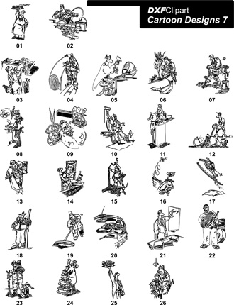 DXF Cartoon Designs 7
