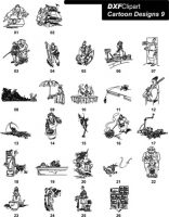 DXF Cartoon Designs 9