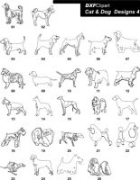 DXF Cat & Dog Designs 4
