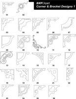 DXF Corner & Bracket Designs 1