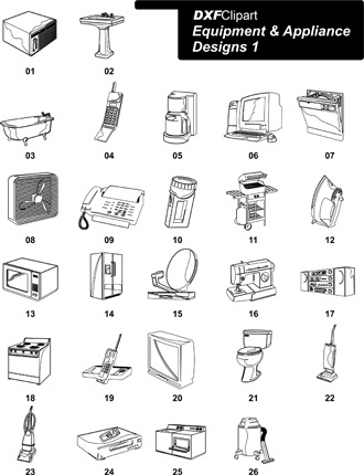 DXF Equipment & Appliance Designs 1