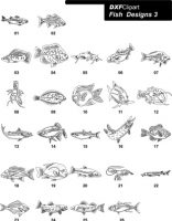 DXF Fish Designs File 3