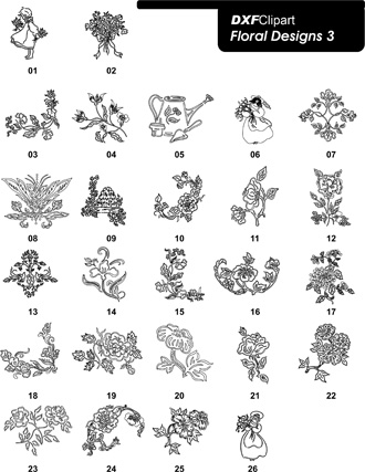 DXF Floral Designs 3