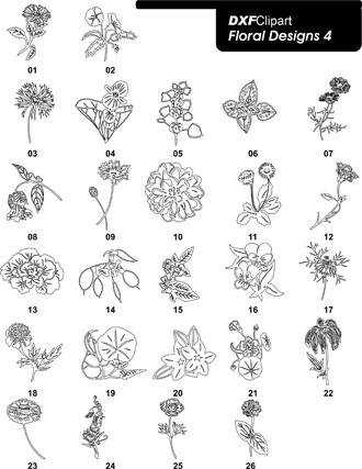 DXF Floral Designs 4