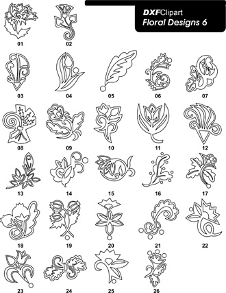 DXF Floral Designs 6