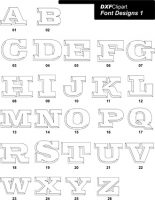 DXF Font Designs 1