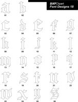 DXF Font Designs-18