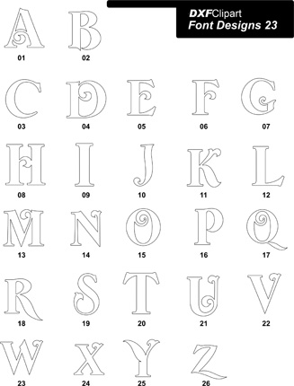 DXF Font Designs-23