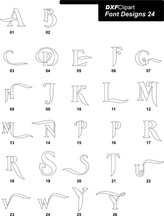 DXF Font Designs-24
