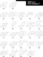DXF Font Designs 7