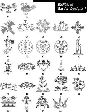 DXF Garden Designs 1