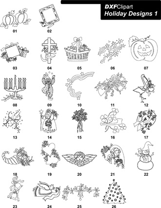 DXF Holiday Designs 1