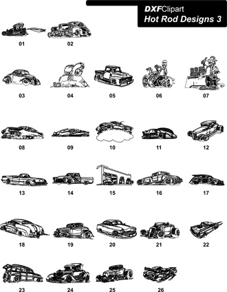 DXF Hot Rod Designs 3