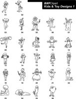 DXF Kids & Toy Designs 1