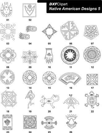 DXF Native American Designs 5