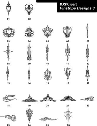 DXF Pinstripe Designs 3