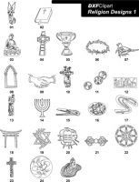 DXF Religion Designs 1