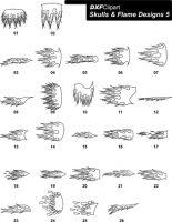 DXF Skulls & Flame Designs 5