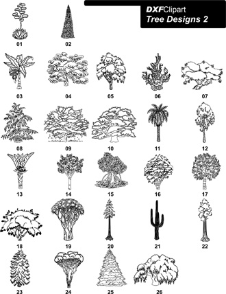 DXF Tree Designs 2