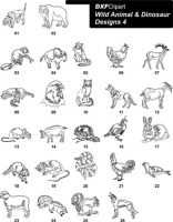 DXF Wild Animal & Dinosaur Designs 4